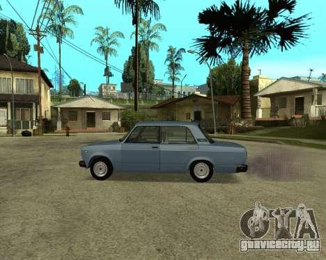 VAZ 2107 Armenian для GTA San Andreas вид изнутри