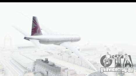 Boeing 777-200LR Qatar Airways для GTA San Andreas вид слева