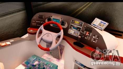 Mercedes-Benz Travego для GTA San Andreas вид изнутри