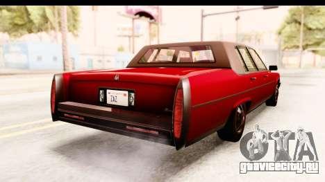 GTA 5 Albany Emperor IVF для GTA San Andreas вид сзади слева