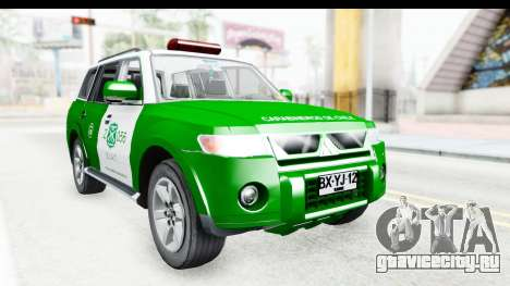 Mitsubishi Montero Carabineros Sección SIAT для GTA San Andreas вид справа