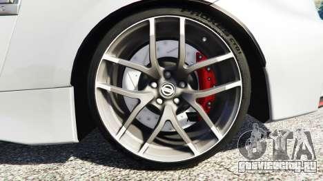 Nissan 370Z Nismo Z34 2016 [replace] для GTA 5 вид сзади справа