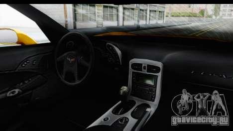 NFS Carbon Chevrolet Corvette для GTA San Andreas вид изнутри