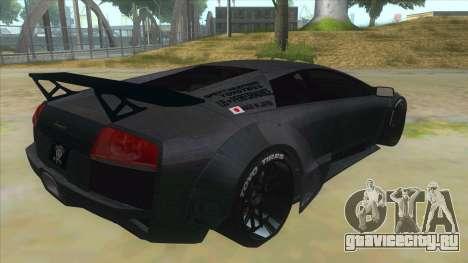 Lamborghini Liberty Walk для GTA San Andreas вид справа