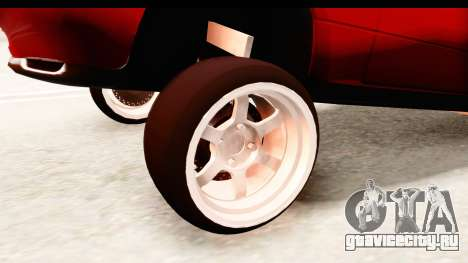 Mazda Miata with Crazy Camber для GTA San Andreas вид сзади