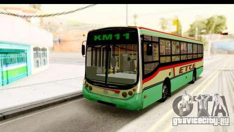 Metalpar Tronador 2 Puertas ETCE GTA Micros Arg для GTA San Andreas