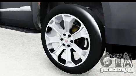 Cadillac Escalade 2016 для GTA San Andreas вид сзади