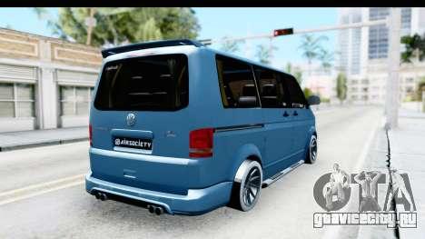 Volkswagen Caravelle для GTA San Andreas вид сзади слева