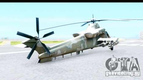 Denel AH-2 Rooivalk для GTA San Andreas вид сзади слева