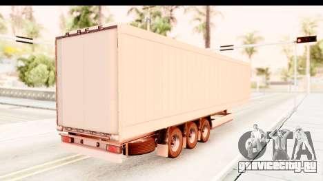 Trailer ETS2 v2 Nr. 2 для GTA San Andreas вид сзади слева