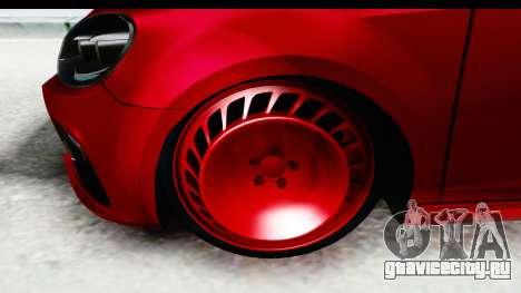 Volkswagen Golf R для GTA San Andreas вид сзади