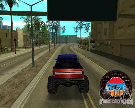 Спидометр в стиле Армянского флага V 2.0 для GTA San Andreas пятый скриншот