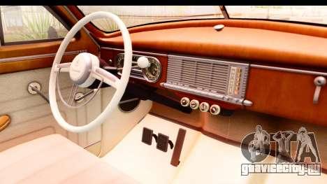 Packard Standart Eight 1948 Touring Sedan для GTA San Andreas вид изнутри