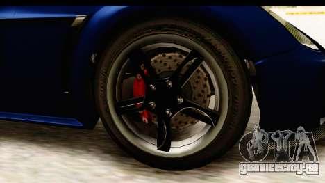 GTA 5 Dewbauchee Rapid GT для GTA San Andreas вид сзади