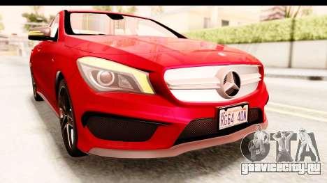 Mercedes-Benz CLA45 AMG 2014 для GTA San Andreas вид сверху