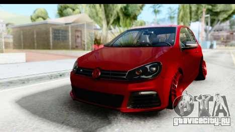 Volkswagen Golf R для GTA San Andreas вид сзади слева