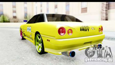 Elegy SpongeBob Version для GTA San Andreas вид справа