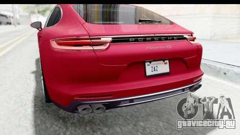 Porsche Panamera 4S 2017 v2 для GTA San Andreas салон