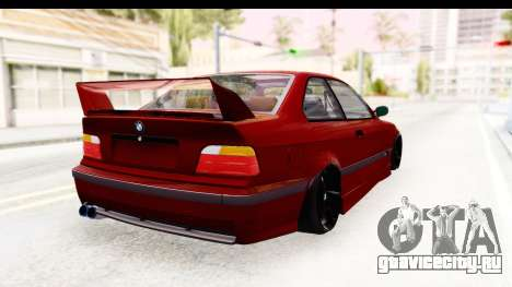BMW M3 E36 Spermatozoid Edition для GTA San Andreas вид сзади слева
