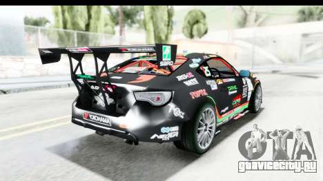D1GP Toyota 86 2015 DRIVE для GTA San Andreas вид слева