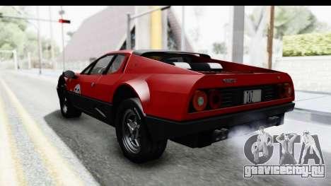 Ferrari 512 GT4 BB 1976 для GTA San Andreas вид снизу