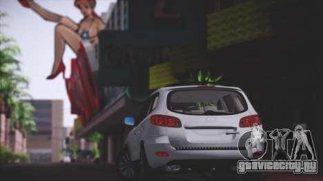 Hyundai Santa Fe Stock для GTA San Andreas вид сзади