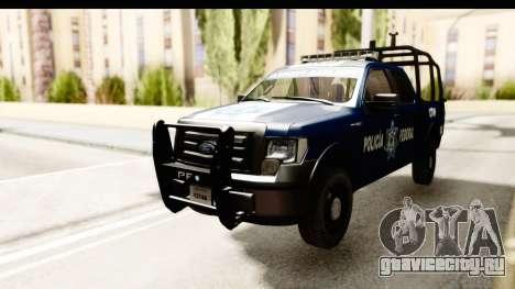 Ford F-150 Federal Police для GTA San Andreas вид сзади слева