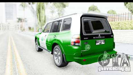 Mitsubishi Montero Carabineros Sección SIAT для GTA San Andreas вид слева