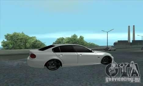 BMW 325i E90 для GTA San Andreas вид сзади слева