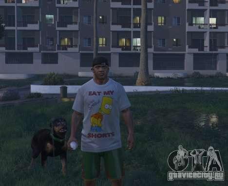 Bart Simpson T-Shirt for GTA V для GTA 5 четвертый скриншот