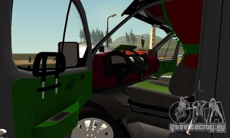 ГАЗель 33023 Фермер для GTA San Andreas вид сбоку