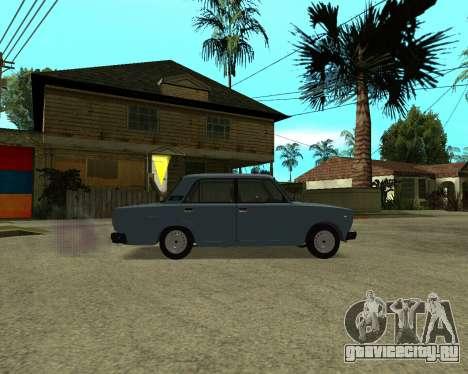 VAZ 2107 Armenian для GTA San Andreas вид снизу