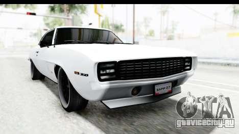 Chevrolet Camaro SS 1968 White Edition для GTA San Andreas вид справа