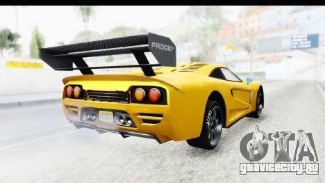 GTA 5 Progen Tyrus IVF для GTA San Andreas вид справа