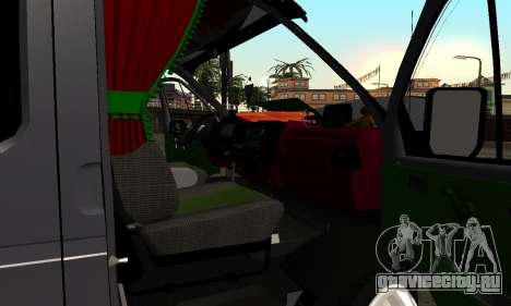 ГАЗель 33023 Фермер для GTA San Andreas вид сверху