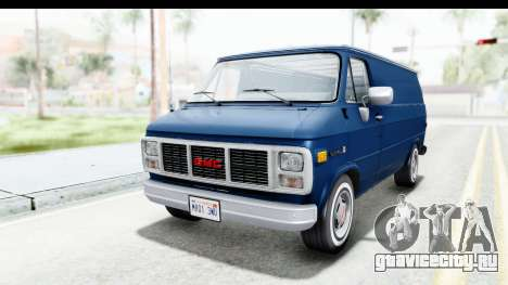 GMC Vandura 1985 White Stripes HQLM для GTA San Andreas