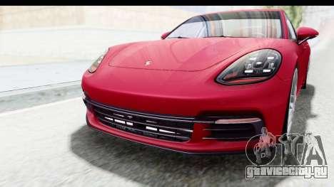Porsche Panamera 4S 2017 v2 для GTA San Andreas вид сверху