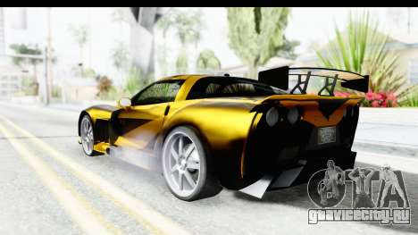NFS Carbon Chevrolet Corvette для GTA San Andreas вид слева