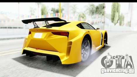GTA 5 Emperor ETR1 v2 SA Lights для GTA San Andreas вид сзади