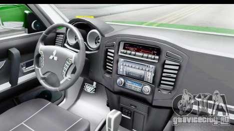 Mitsubishi Montero Carabineros Sección SIAT для GTA San Andreas вид изнутри