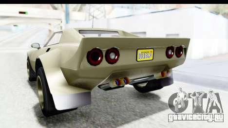 GTA 5 Lampadati Tropos Rallye IVF для GTA San Andreas вид снизу