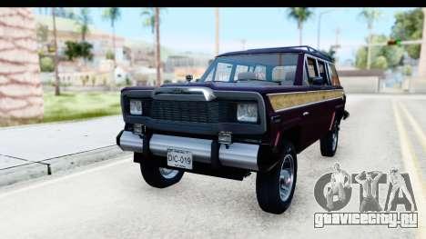 Jeep Grand Wagoneer для GTA San Andreas вид справа