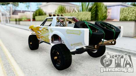 GTA 5 Trophy Truck SA Lights PJ для GTA San Andreas вид сверху
