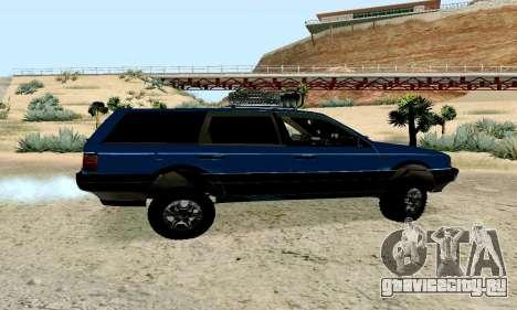 Volkswagen B3 для GTA San Andreas вид сзади слева
