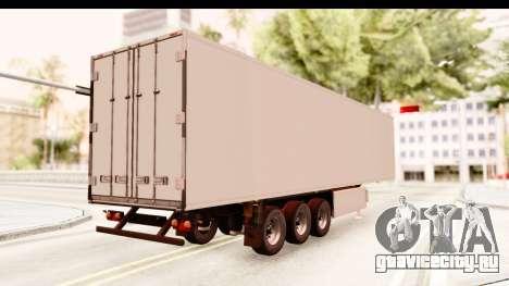 Trailer ETS2 v2 New Skin 2 для GTA San Andreas вид сзади слева
