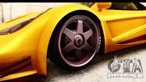 GTA 5 Progen Tyrus SA Style для GTA San Andreas вид изнутри