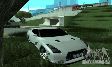 Nissan GT-R R35 Green Screen для GTA San Andreas