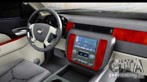 Cadillac Escalade 2016 для GTA San Andreas вид изнутри
