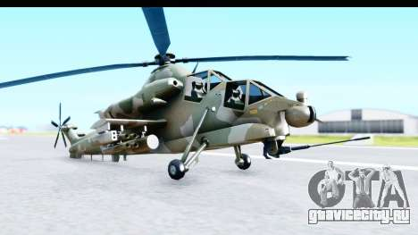 Denel AH-2 Rooivalk для GTA San Andreas вид справа