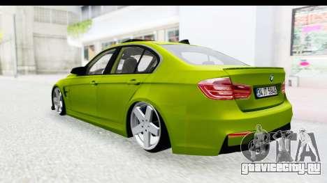 BMW M3 F30 Hulk для GTA San Andreas вид справа